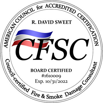 ACAC - CFSC - Board Certified Fire and Smoke Damage Consultant