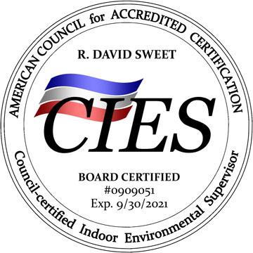 ACAC CIES Board Certified Indoor Enviromental Supervisor